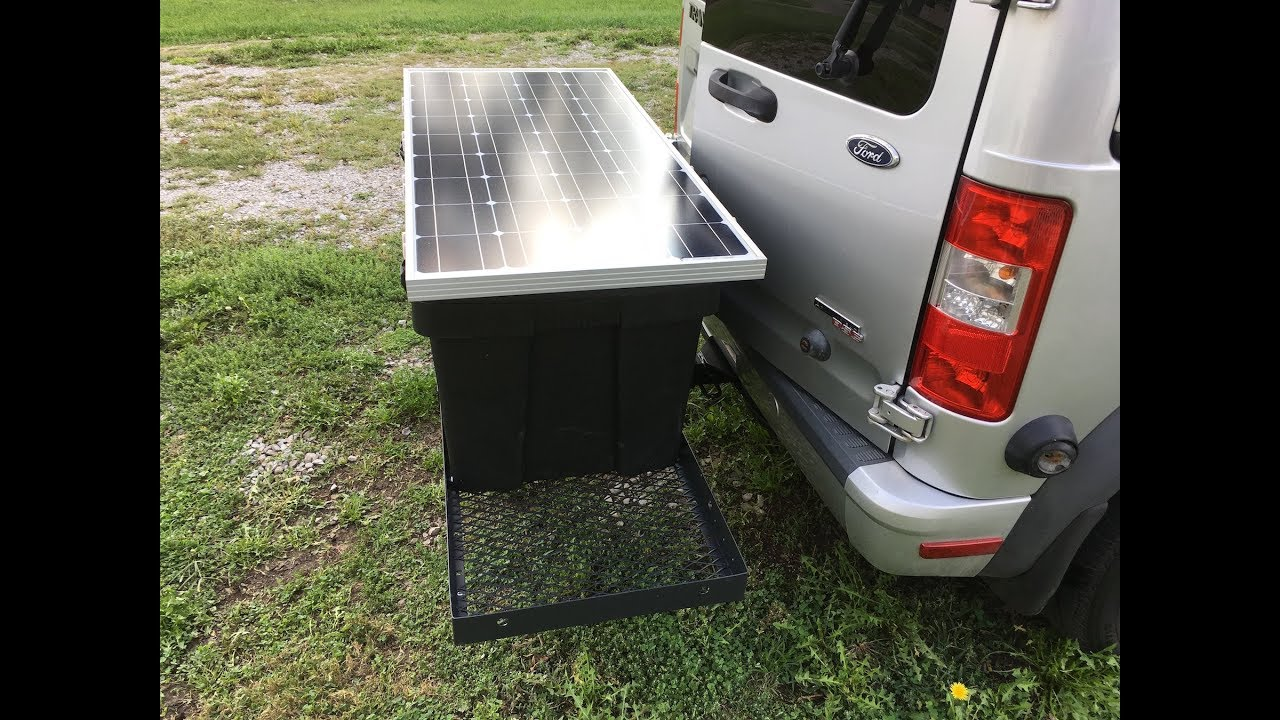 DIY Camper Van Conversion Life 2010 Ford Transit Connect Mounting The Solar Panel