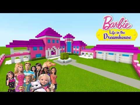 """Minecraft Tutorial: How To Make a Barbie House """"Barbie Life In The Dreamhouse"""""""