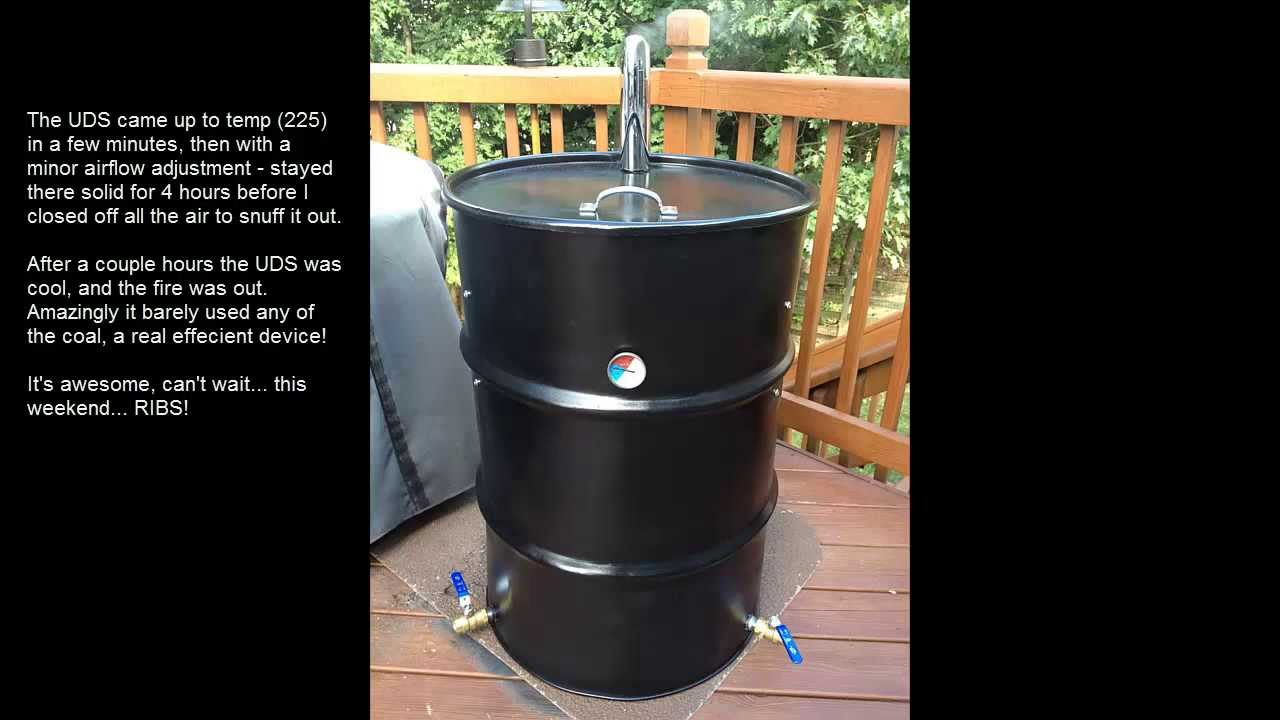 My Upright Drum Smoker Uds Youtube