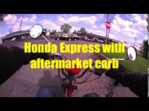 Honda Express with aftermarket carb