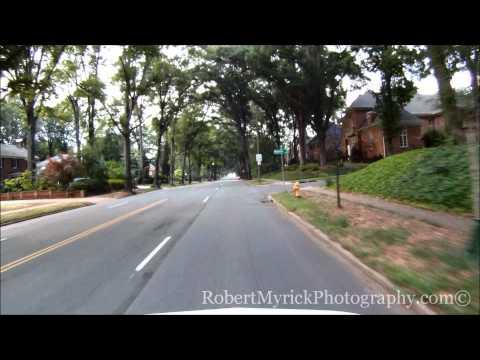 Driving South Kings Drive, Charlotte, N.C.