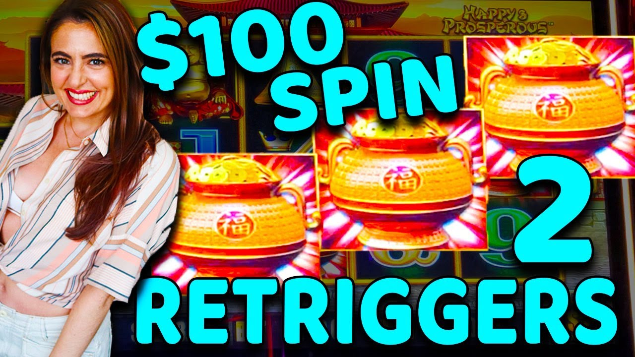 TWO RETRIGGERS ON A $100 SPIN on DRAGON LINK Slot Machine at the WYNN LAS VEGAS!
