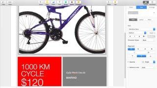إنشاء إعلان أو ملصق استخدام التطبيق صفحات MAC OS X