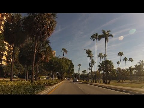Coconut Grove Miami, Florida - Drive through neighborhood streets