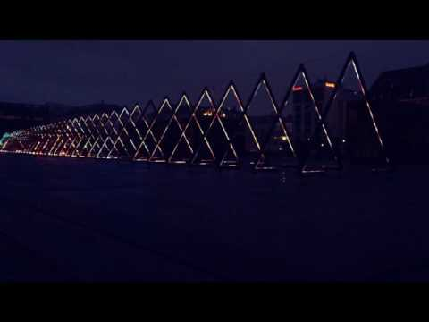 Ofelia Plads lighting Art Architecture - Copenhagen