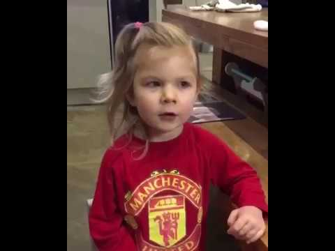 Little girl names all Manchester United players and sings Zlatan chant