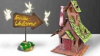 Feen Willkommen! DIY-Feenhaus aus Karton