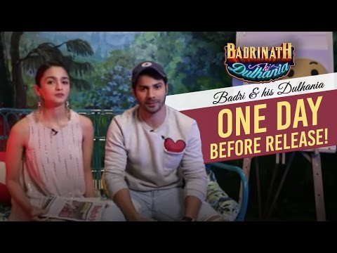 Badri & his Dulhania one day before the release!   Badrinath Ki Dulhania   Varun Dhawan   Alia Bhatt