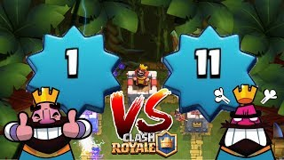 Level 1 DEFEATING Level 11! HOW?! Clash Royale