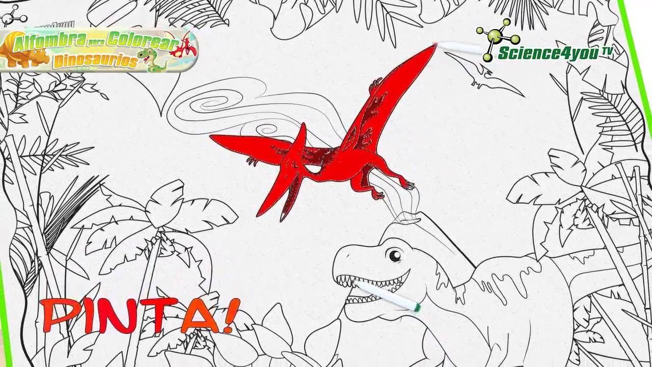 Alfombra para colorear Dinosaurios - YouTube