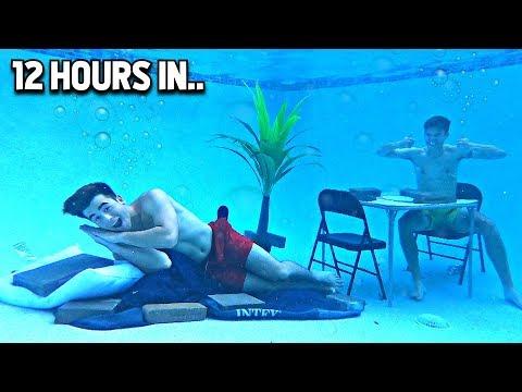 Living UNDERWATER For 24 Hours - Challenge
