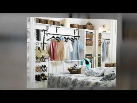 Creative Storage Ideas For Small Bedrooms With No Closet - YouTube