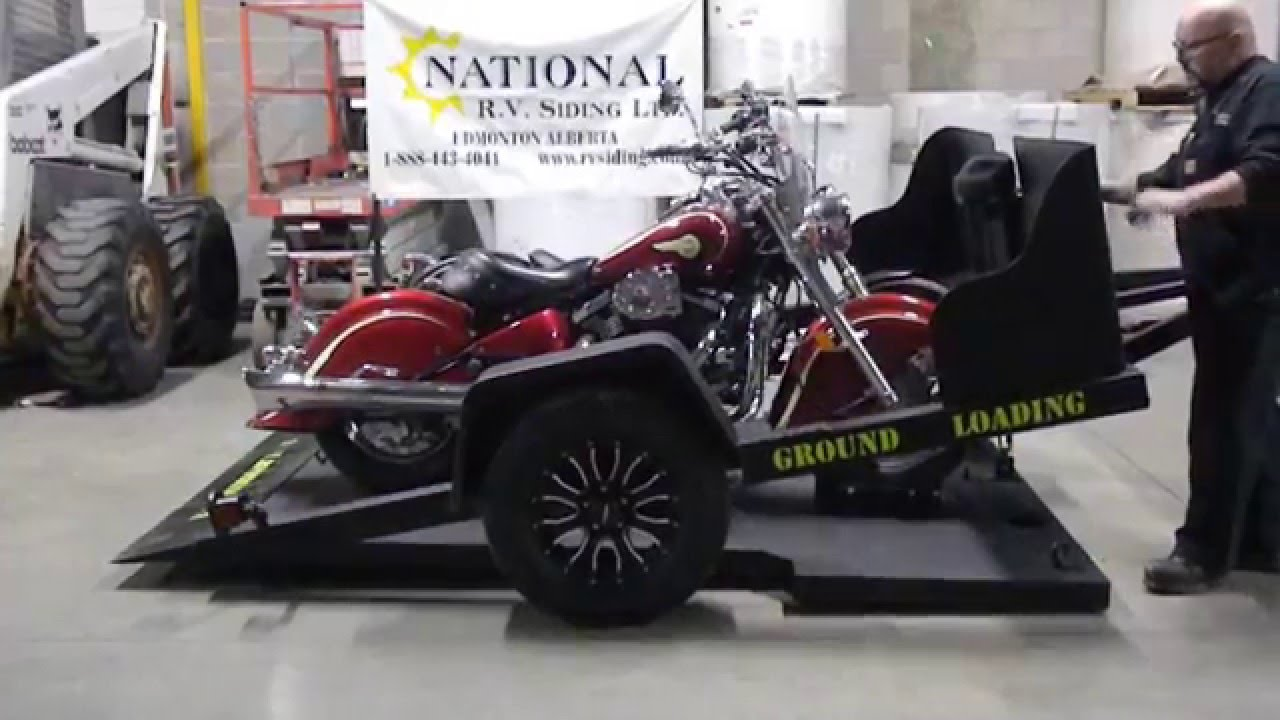 Canadian Ground Loading Motorcycle Trailer
