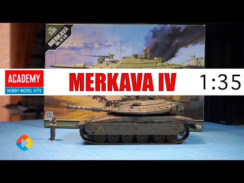 MAQUETA ACADEMY HOBBY MODEL KITS - MERKAVA Mk.IV LIC | ESCALA 1:35 | EN ESPAÑOL - DonGregorioYJack