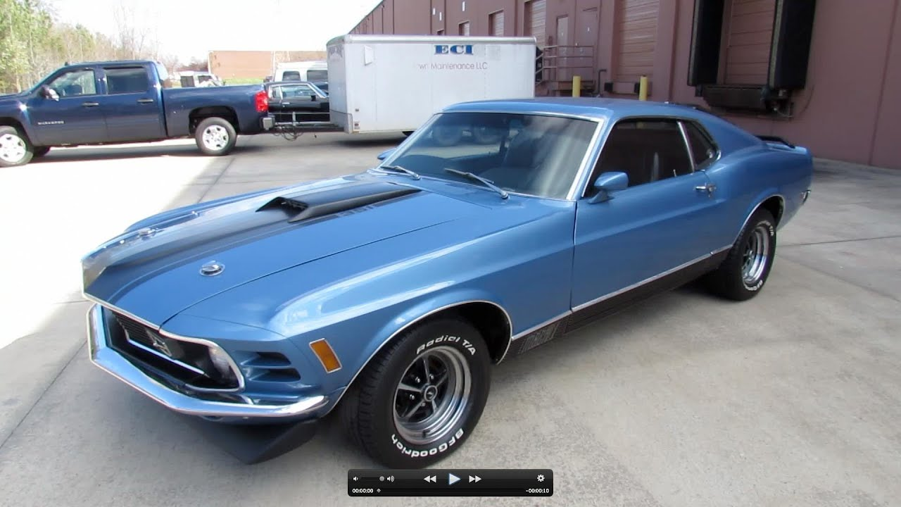 2012 Ford Mustang For Sale >> 1970 Ford Mustang Mach I Fastback 351C Start Up, Exhaust, and In Depth Review - YouTube