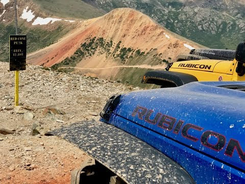 Red Cone and Radical Hill - Colorado 4 Wheeling Jeep Wrangler Rubicon JKU Drone Footage