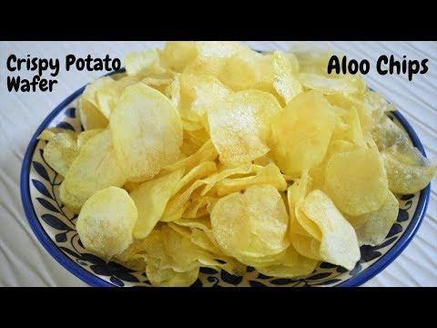 ना उबालना ना सुखाना झटपट बनाये मार्केट जैसे आलू चिप्स~Instant Crispy Potato Wafers~Food Connection