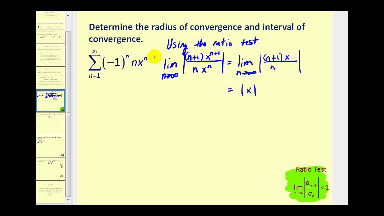 power series part 1 radius and interval of convergence. Black Bedroom Furniture Sets. Home Design Ideas