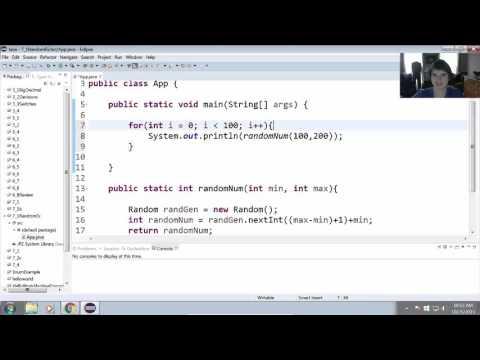 Create a Method to Generate Random Numbers in Java (7.1)