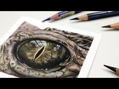 How To Draw a Crocodile Eye with Colored Pencil - YouTube