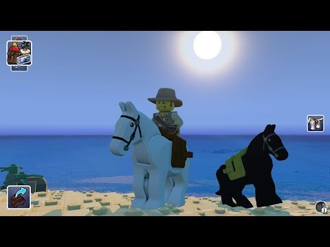 LEGO Worlds - White Horse Free Roam Gameplay (PC HD) [1080p]