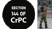 what is section 144 (CRPC) / Dhara 144 - YouTube