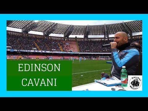 Boato Stadio San Paolo al gol di Edinson Cavani Napoli Pescara 5 a 1