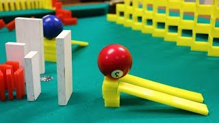Amazing Domino Pool Trick Shots!