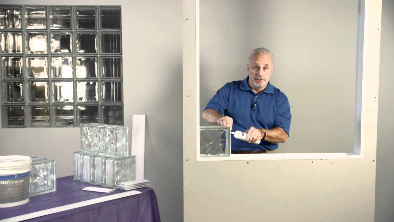 How To Install Pittsburgh Corning Glass Block - YouTube