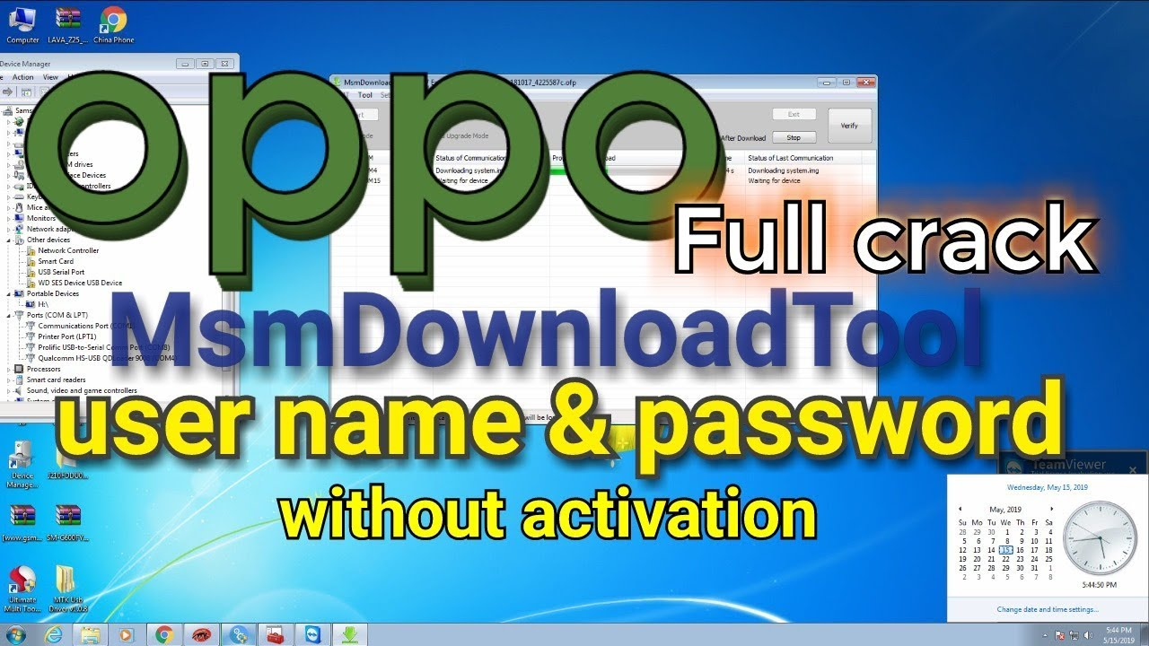 Oppo a3s flashing and unloking without id msm tool full crack