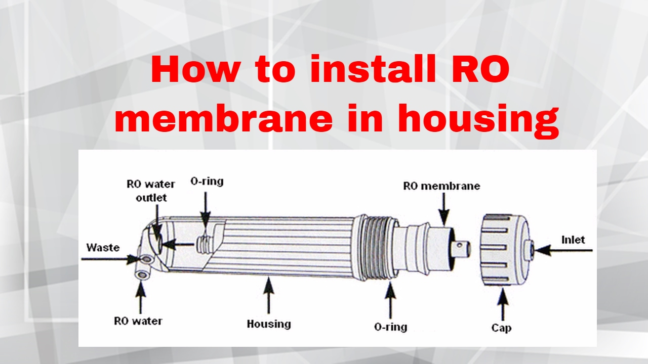 Ro Membrane How To Place A In A Membrane Hosing For