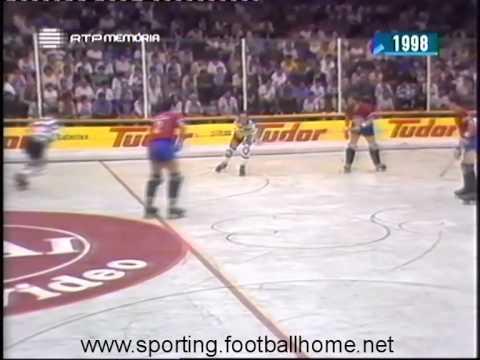 Hoquei Patins :: Sporting - 8 x Darmstadt (Alemanha) - 1  de 1988/1989 Taça dos Campeões M/F - 1ª Mão