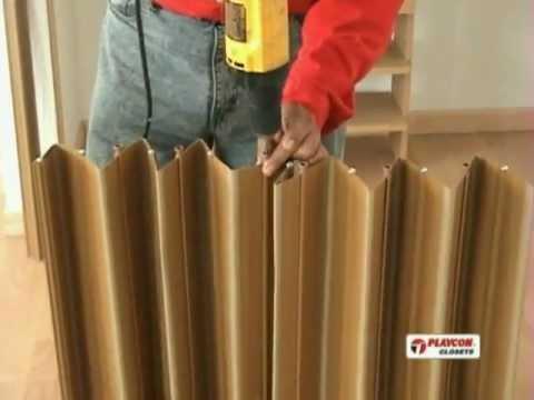 Como instalar una puerta plegable playcon parte 1 for Cortinas para puertas exteriores ikea
