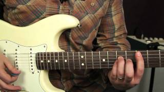 Eric Clapton - Cocaine - jj cale - Blues - Rock - Guitar Lessons - Tutorial - Fender Strat