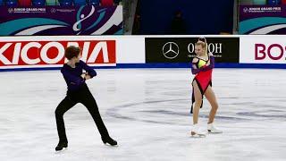 Алиса Овсянкина Матвей Самохин Ритм танец Гран при по фигурному катанию среди юниоров 2021 22