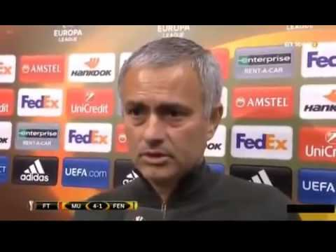 Manchester United vs Fenerbahçe 4 1 Jose Mourinho Post Match interview UEFA Europa lea