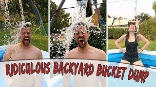 Ridiculous Backyard Swing Set Water Bucket Dump - Be Ridiculous Episode 1