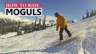 How to Turn in Moguls - Snowboarding Tips