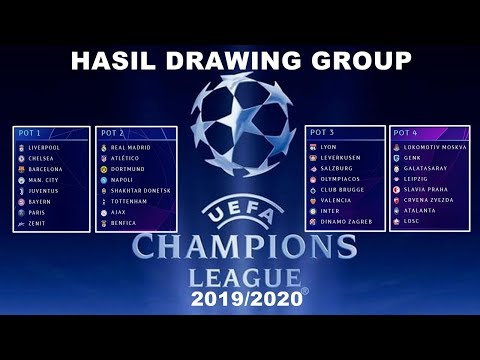 HASIL DRAWING PEMBAGIAN GRUP LIGA CHAMPIONS 2019/2020 | DRAWING UEFA CHAMPIONS LEAGUE 2019