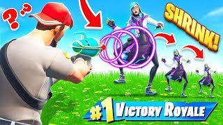 *TINY* SHRINK RAY ESCAPE ROOM in FORTNITE!