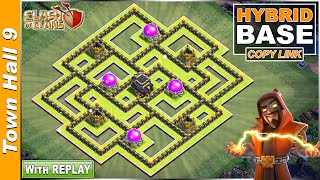 New BEST TH9 Base 2021 With REPLAY | Town Hall 9 FARMING/TROPHY Base Copy Link - Clash Of Clans