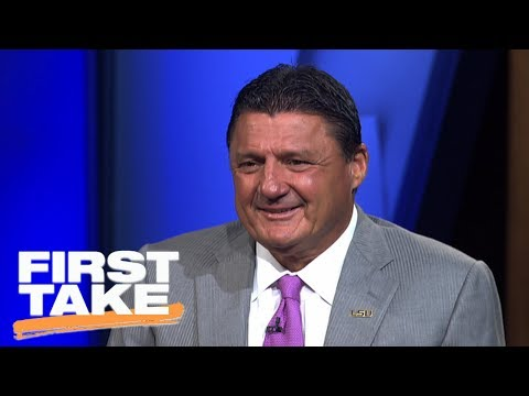 LSU Head Coach Ed Orgeron's Best Sales Pitch For Recruits | First Take | July 19, 2017