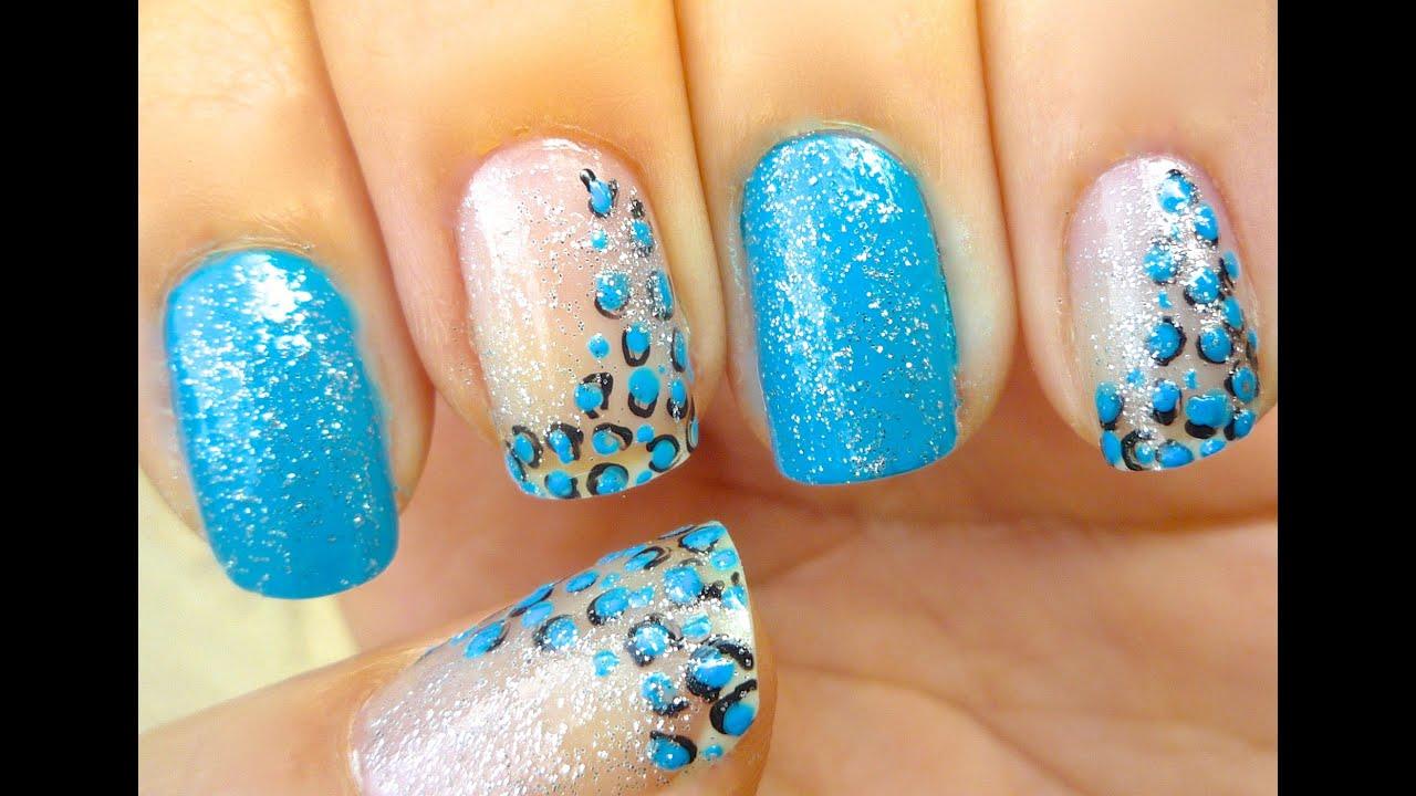 Blue Nail Art Design