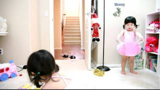 """Twin Babies Talking To Each Other and Cleaning Up """"Two year old"""""""