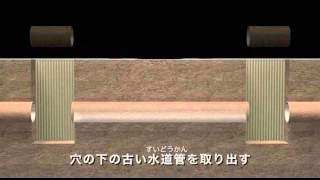 東京都水道局広報映像 パイプインパイプ工事のすすめかた