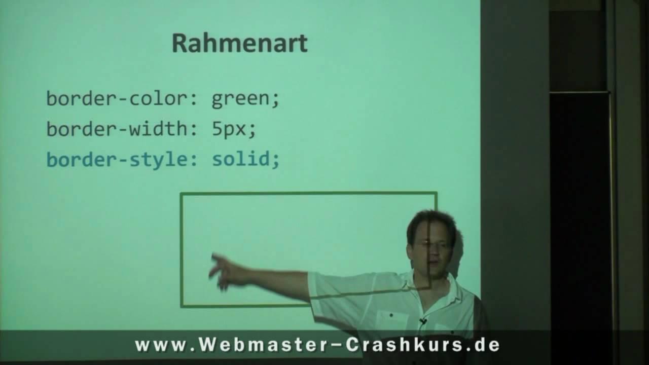 CSS - Rahmen mit CSS erstellen - YouTube