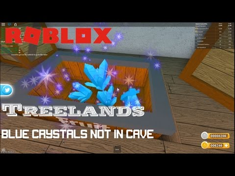 Roblox Treelands Free Blue Crystals Youtube