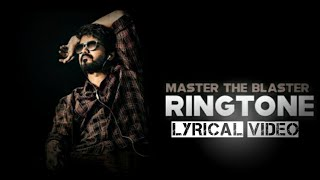 Master the Blaster Lyrical video🎶  ||  Master Thalapathy 🔥 || Anirudh Ravichander and Bjorn Surrao ⚡