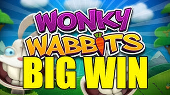 Online slots HUGE WIN 3 euro bet - Wonky Wabbits BIG WIN Wildline