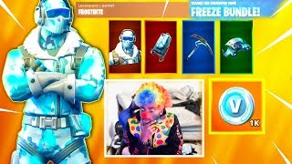 'New' Fortnite DEEP FREEZE BUNDLE - Fortesnite frostbite SKIN